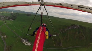 Ken Sinclair flying Airwave K5 over Treak Cliff 2nd May 2014