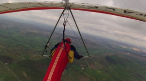 Ken Sinclair high above Treak Cliff    on Airwave K5     2nd May 2014