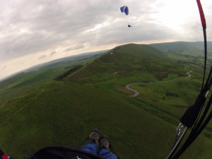 Picture taken by Ken Sinclair flying Nova Mentor 3 over Mam Tor NW face 21st May 2014